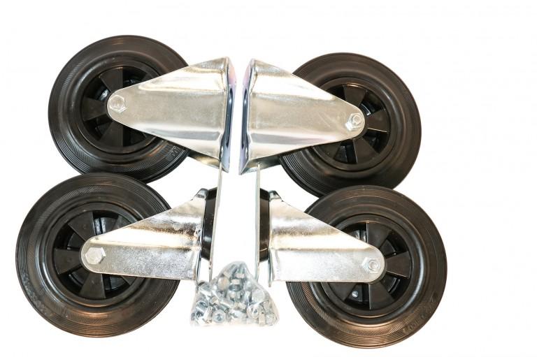 Komplet undervogn m. Massive hjul