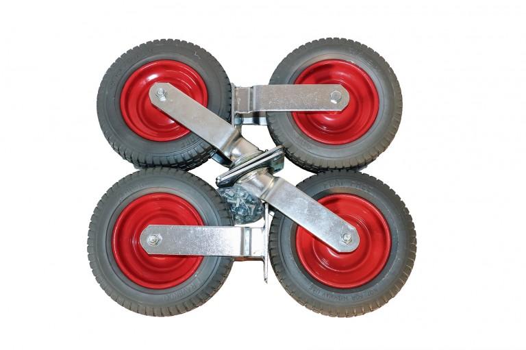 Komplet undervogn m. Punkterfri hjul