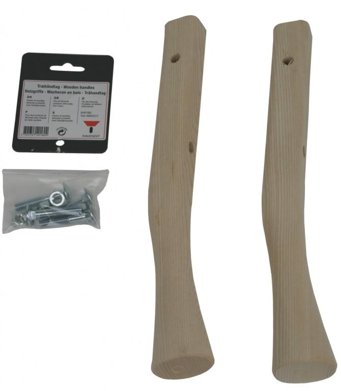 Træhåndtag til vinkeljernsstel