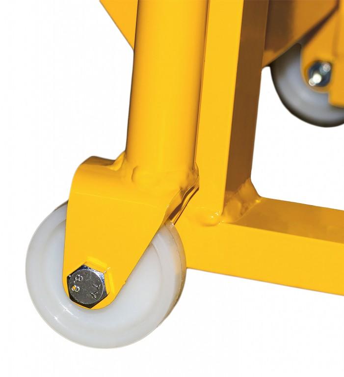Støttehjul til pallekærre